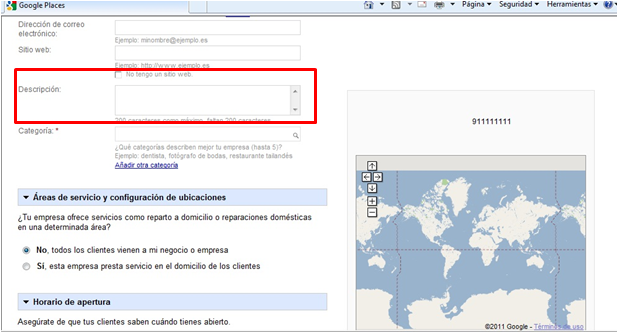 aparecer en google places