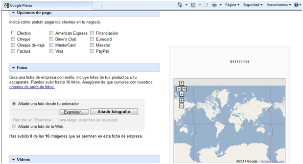google places empresas