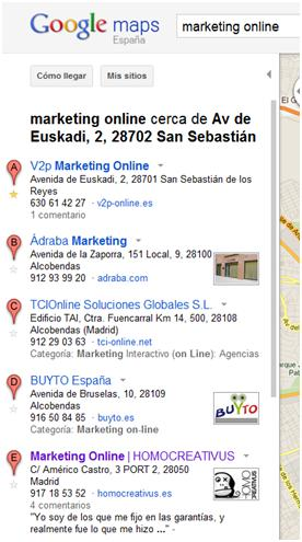 seo local 1 SEO Local y Google Local:posicionamiento local en buscadores y en Google Places